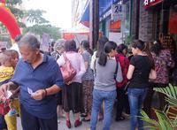 华成都市活动图片|客户进行签到