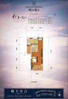 中房翡翠湾骑士堡组团C3-b户型1室1厅1卫41.00�O