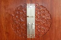 盛天东郡样板间图|300�O样板间 红木柜门
