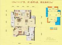 容州商业城容州商业城-C7户型4室2厅2卫128.00�O