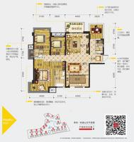 荣和悦澜山141�O3+1户型4室2厅3卫141.00�O