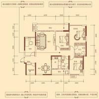 2#B户型135.53㎡4+1房2厅2卫