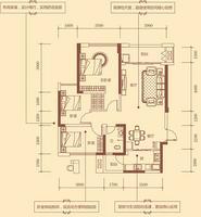 2#D户型91.81㎡3房2厅2卫