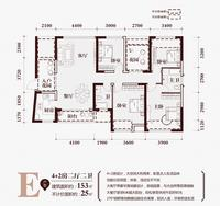 华商国际・美国城E户型153�O的4+2房6室2厅2卫153.00�O