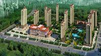 柳州恒大翡翠龙庭效果图|恒大影城半鸟瞰图