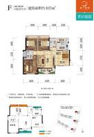 南宁奥园4#5#6#楼F户型3室2厅2卫107.00�O