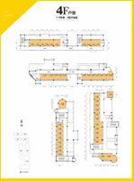 1-6號樓4層平面圖