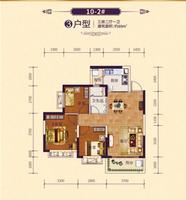 恒大御府10-3#3户型3室2厅1卫89.00�O