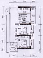 地王公馆2座02、06户型2室1厅1卫79.00�O