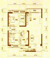 地王公馆2座03户型3室2厅3卫168.00�O