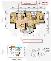 大唐・天城6#1-01户型4室2厅2卫125.00�O