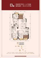 建业四季花城B1户型0室0厅0卫0.00�O