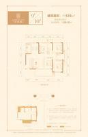 银丰・香槟郡128�O四房户型4室2厅2卫128.00�O