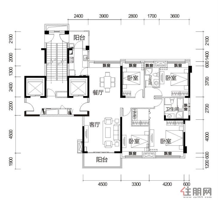 荣和天誉173�O4室2厅2卫173.00―173�O