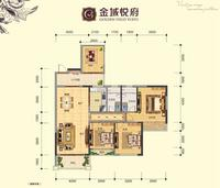喜润金域悦府8#楼108.29�O的01户型4室2厅2卫108.29�O