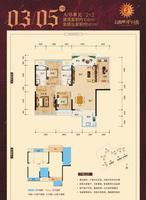天健西班牙小镇A/B单元03/05户型4室2厅2卫104.00�O