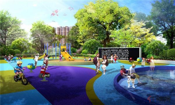 幼儿园日景效果图