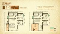 恒兆河西湾国际公馆B4-1户型5室2厅4卫219.99�O