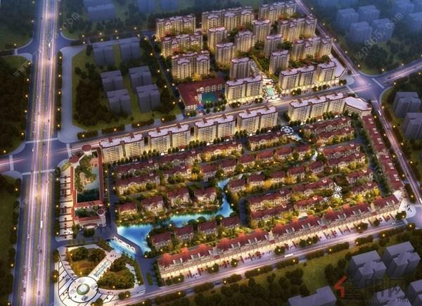 容县吉营--首府鸟瞰图