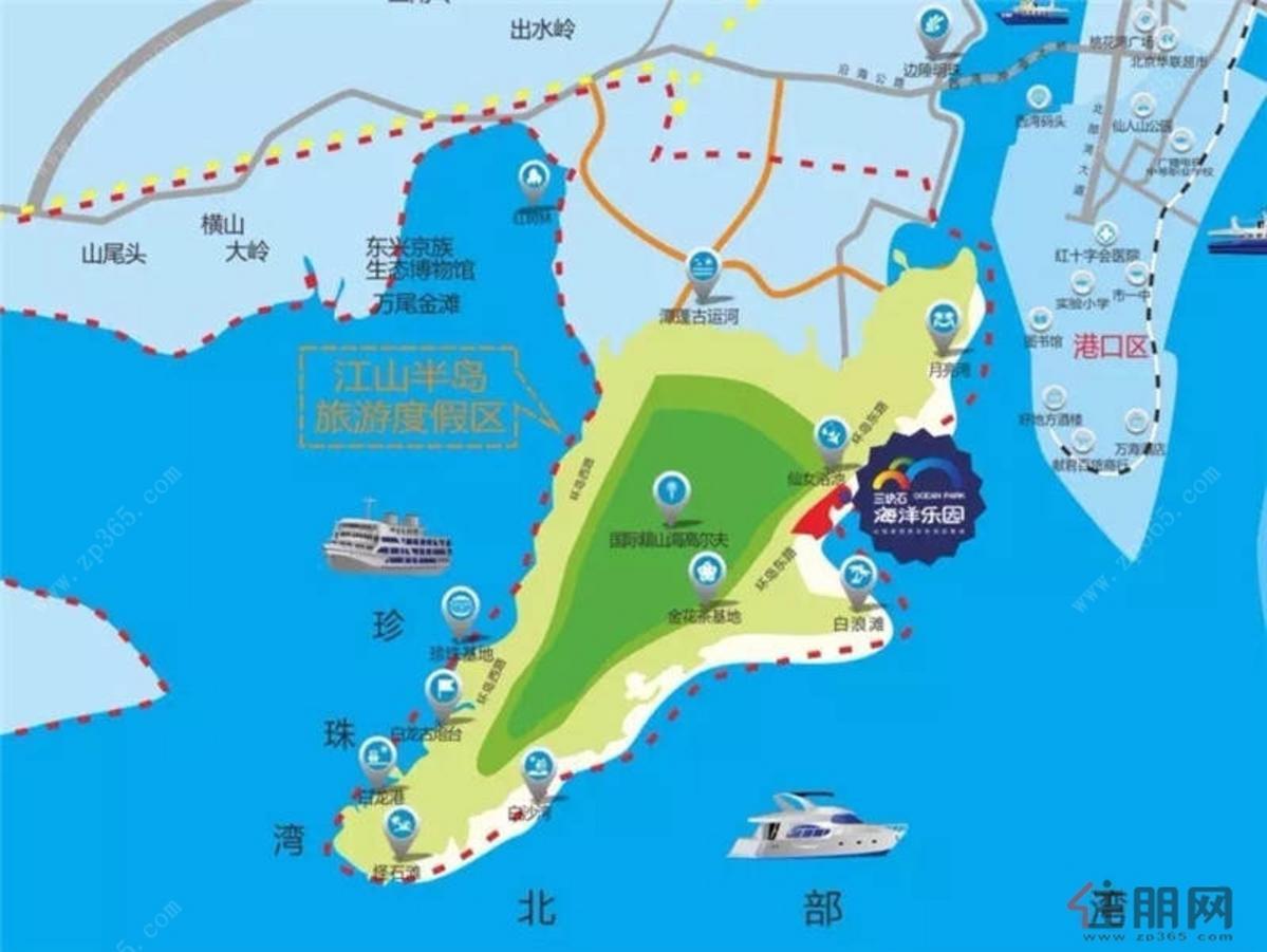 三块石海洋乐园区位图