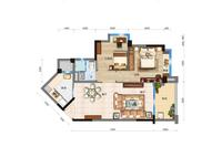 碧桂园・北纬21° Y035 两室两厅一卫2室2厅1卫81.00�O