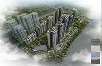 彰泰城效果图|一期鸟瞰效果图