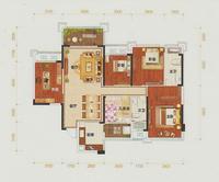 凯旋国际9#楼02户型5室2厅2卫158.79�O