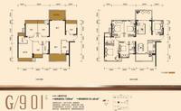 龙光・玖珑府G/9 01户型5室2厅2卫128.00�O