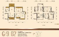 龙光・玖珑府G/9 02户型5室2厅2卫136.00�O