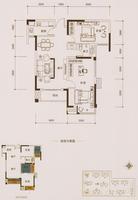 中海御湖熙岸13#楼N户型2室2厅1卫80.00�O