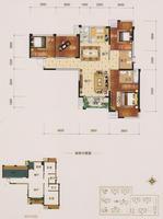 中海御湖熙岸13#楼M户型4室2厅20卫107.00�O