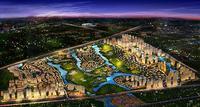 嘉和城效果图|嘉和城大城夜景鸟瞰图