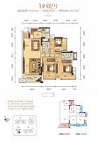 云星・钱隆公馆1#02号户型图3室2厅2卫101.00�O