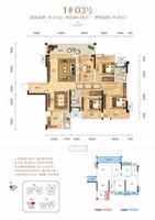 云星・钱隆公馆1#03号户型图4室2厅2卫119.00�O