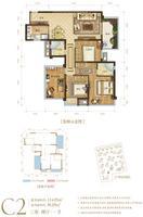 澜月府7号楼C2户型4室2厅2卫114.85�O