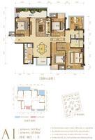 澜月府9号楼A1户型5室2厅2卫143.36�O