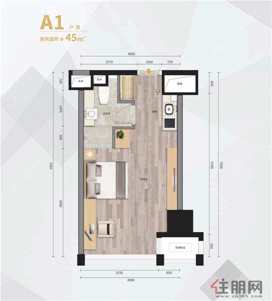 柳州华润万象城综合体45�OSOHO公寓1室1厅1卫45.00―45�O