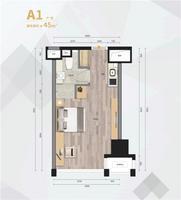 45㎡SOHO公寓