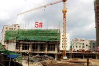 喜润金域悦府实景图|7月工程:5#楼建到4层