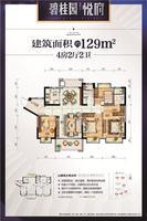 碧桂园悦府Y355B-129�O4室2厅2卫129.00�O