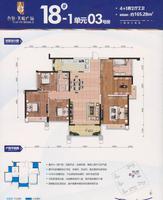合景・天峻广场18号楼03号户型5室2厅2卫165.28�O