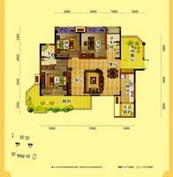 天润一号三房两厅两卫3室2厅2卫136.00�O