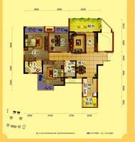 天润一号三房两厅两卫3室2厅2卫11.35�O