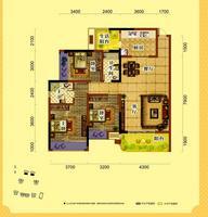天润一号三房两厅两卫3室2厅2卫122.00�O
