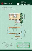 公寓B户型图30.08㎡