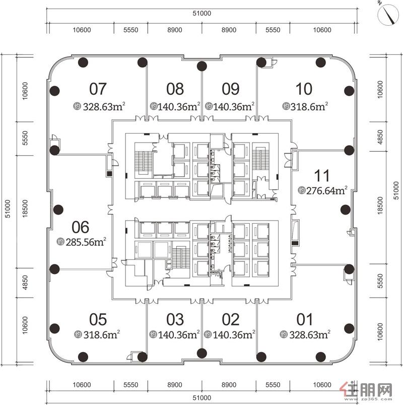 龙光世纪A塔6-23层