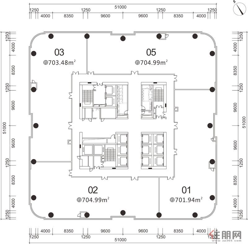 龙光世纪龙光世纪A塔53-61层0室0厅0卫0.00�O