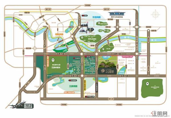 公园里区域图