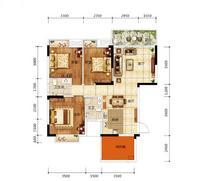 天悦华府96.73�O户型3室2厅1卫96.73�O