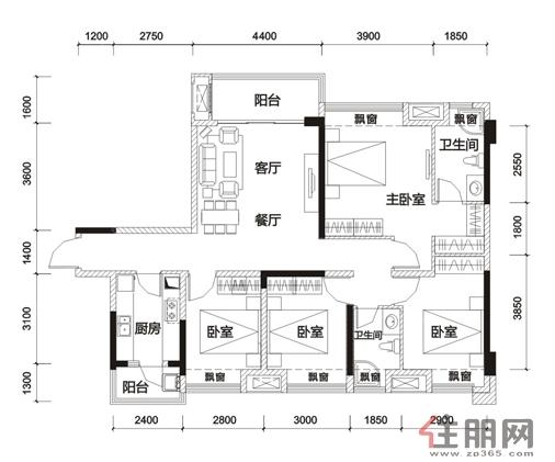 荣和天誉133�O4室2厅2卫133.45―133.45�O